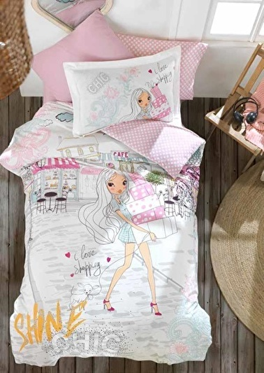 Soley Tek Kişilik Uyku Seti Genç Chic Girl Renkli